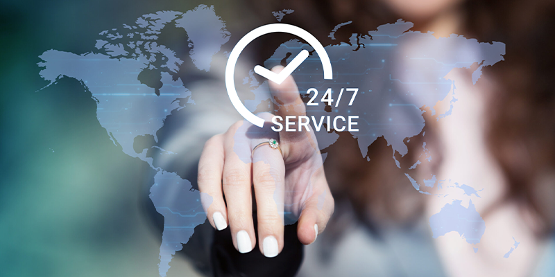 Round the Clock Customer Service